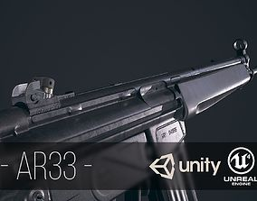 AR33 Assault Rifle 3D asset
