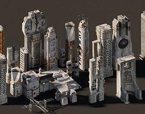 futuristic Futuristic city buildings 3D model