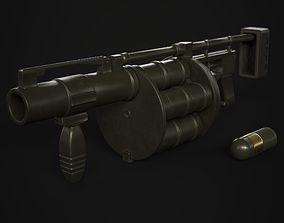 Grenade Launcher 40mm 3D asset VR / AR ready