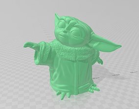 3D printable model BABY YODA FROM THE SERIES THE