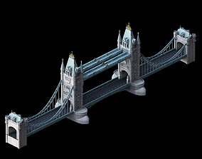 3D model Sci Fi Building-London Tower Bridge 04