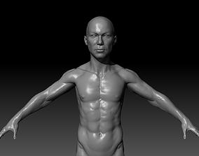 3D asset Human Asian Body Anatomy Base Mesh