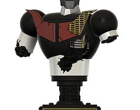 mazinger z battle damaged bust figure 3d printing model