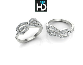 HD Fine Jewelry Knot Ring 3D printable model