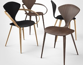 Cherner Side Chair and Armchair 3D model