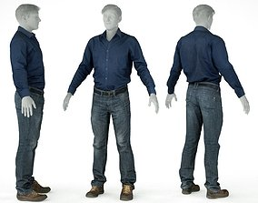 3D model Male Casual Outfit 67 Shirt Pants Shoes