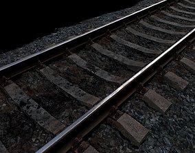 Railroad wit Concrete Sleepers 3D asset