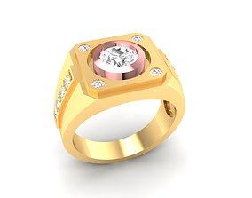 3D printable model LUXURY DIAMOND RING FOR MEN 178