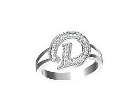 3D print model Letter ring