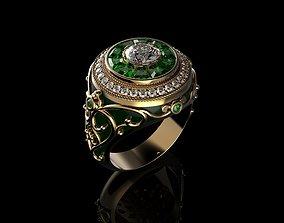 Mens Ring Diamond 2 3D printable model
