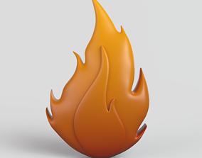 3D model Cartoon Fire smoke