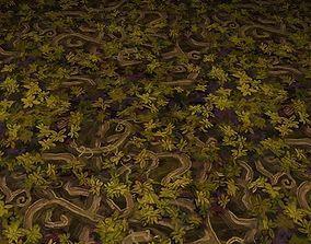 3D ground leaf tile 07