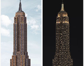 Empire State Building - Day and Night 3D model