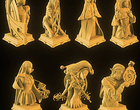Custom Fate Grand Order Chess Set 3D