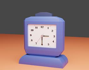 3D model Squared Alarm Clock 1