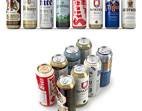 3D model Beer in aluminum cans Vol 1