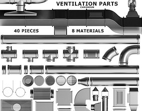 3D model Parts Ventilation System Set 01