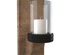 3D Candle Wall Sconce