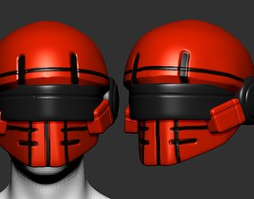 helmet high poly sculpt 3d printable plastic sci