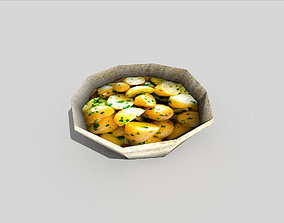 low poly potatoes meal 3D model