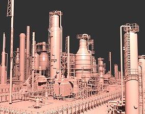 3D Mega Oil Refinery