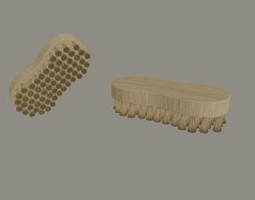 3D Wooden Scrub Brush