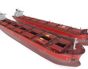 3D Bulk carrier Red