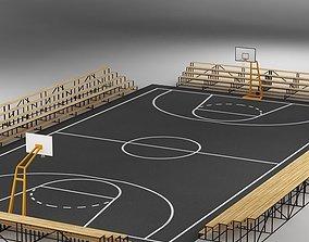 3D Basketball Court 03