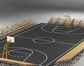 3D Basketball Court 03