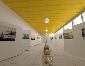 Art Gallery decoration 3D model