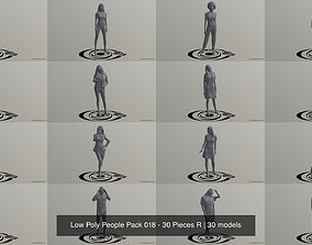 Low Poly People Pack 018 - 30 Pieces R 3D