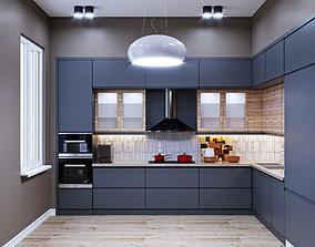 cooktop Modern kitchen interior 3D model