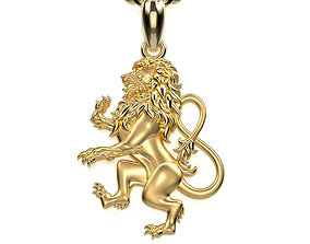 Leo Zodiac Sign Pendant 001-08 3D printable model
