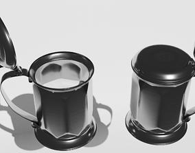 Tavern pewter mug photorealistic and 3D asset