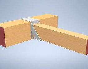 3D model Wooden beam console