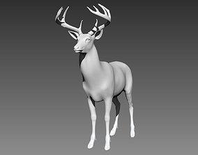 3D model Deer base mesh for Zbrush