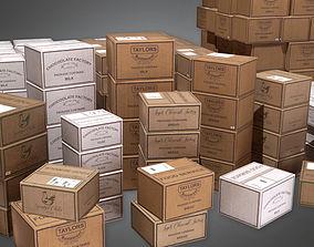 3D model Boxes Food Shipment 01 KTC - PBR Game Ready