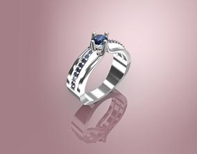 solitaire ring platinium 3D printable model