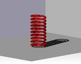 Old red spring 3D model