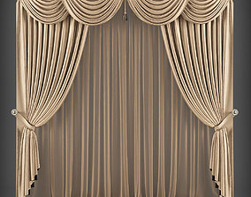 Curtain 3D model 299 realtime