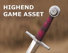 Medieval Dagger for Games and Cinematics 3D asset