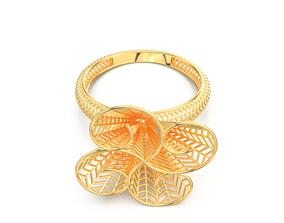 pretty GOLD RING 3D print model
