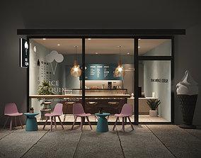 3D asset Interior Scene - Ice Cream Shop