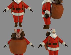 3D model rigged Santa Claus