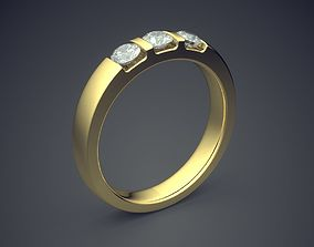 3D printable model Classic Simple Golden Engagement Ring 1