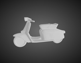 3D print model Low poly Lambretta scooter