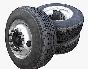 Heavy truck steel wheels PBR 3D model