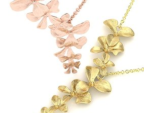 Organic Shaped Jewelry 7 Flowers 3D printable model 2