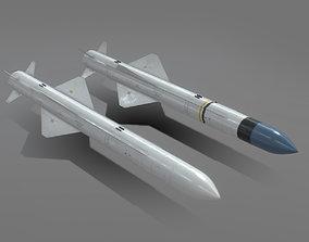 3D model EXOCET AM39 ANTI-SHIP Missile