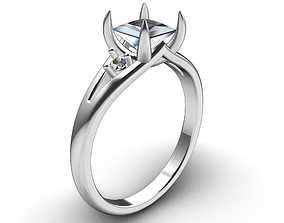 PRT1 - Engagement Ring 3D CAD File anillo